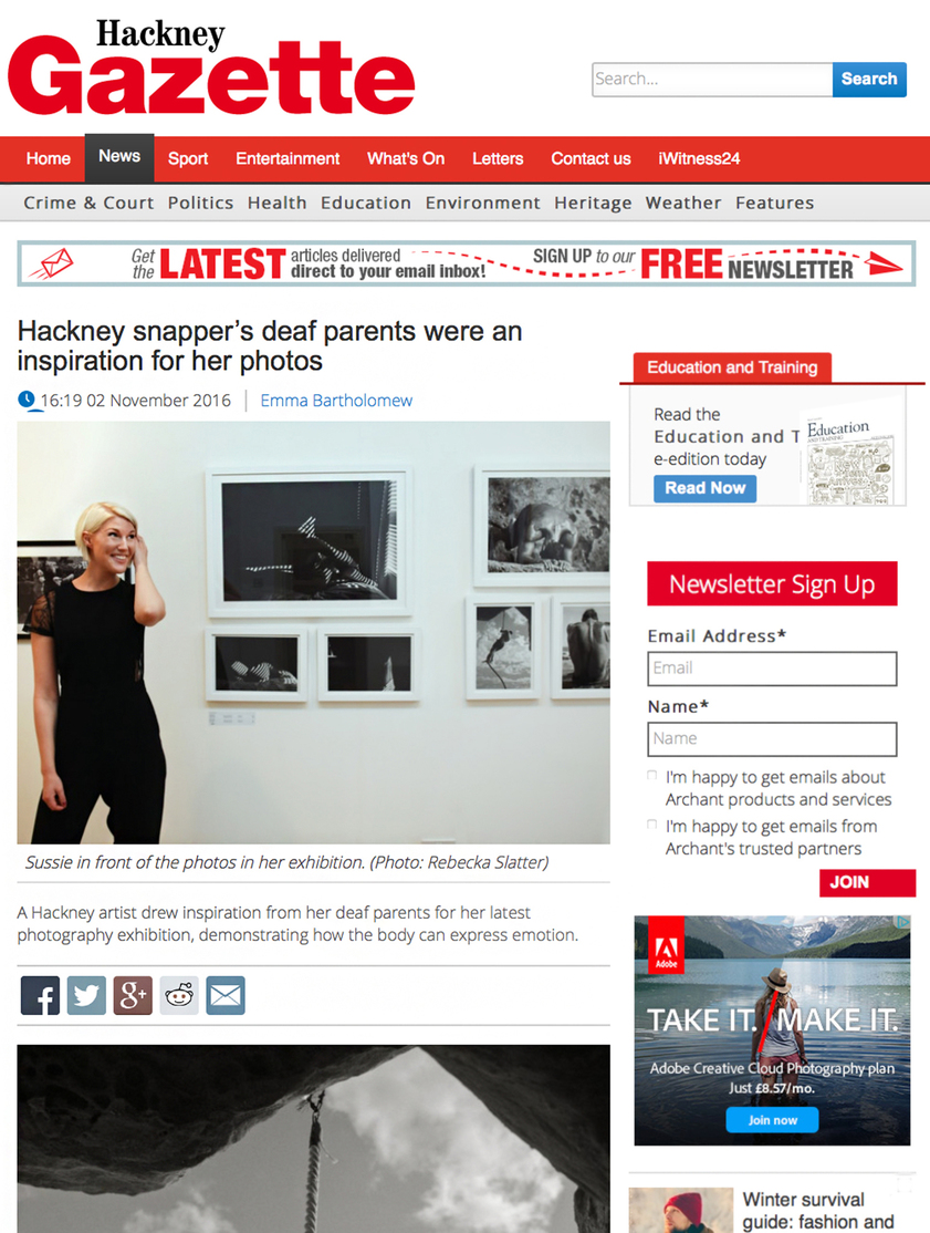 Hackney Gazette Sussie Mellstedt